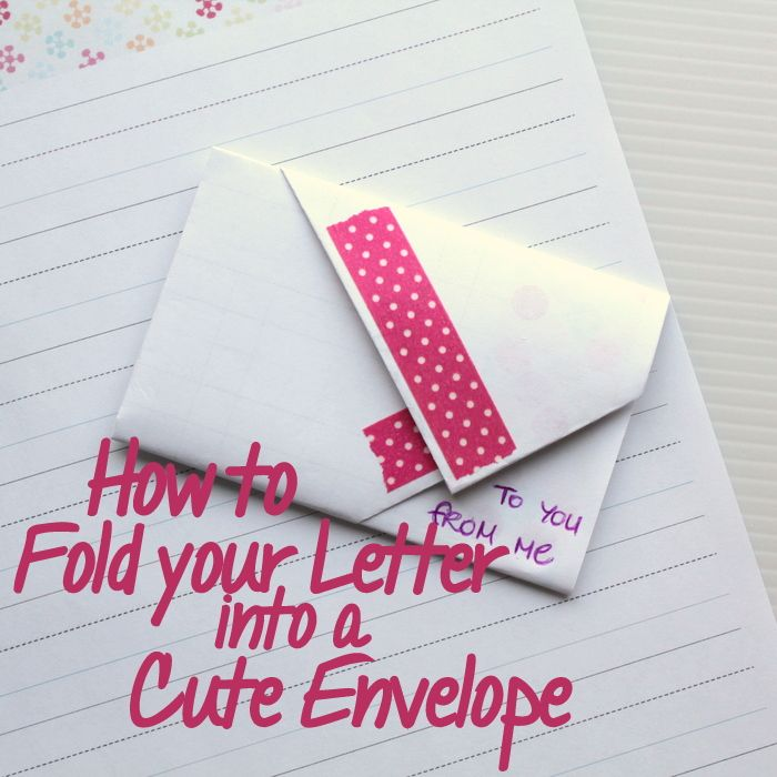 Best  Fold Paper Into Envelope Ideas On   Fold An