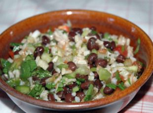 Fiesta Rice SaladBrown Rice, Fiestas Rice, Side Dishes, Salad Recipes, Cj35 Recipe, Complete Meals, Pinch Recipe, Rice Salad, Rice Side