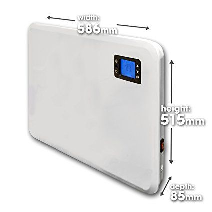 Panel Heater 24 Hour 7 Day Timer Bathroom Safe 400W - 2000W, Flat Wall Mounted Low Energy Electric Heater for home Slimline Electric Radiator Low Energy Efficient Convector Heater Digital thermostat (1000W): Amazon.co.uk: Kitchen & Home