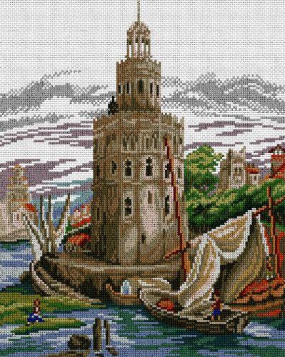 Torre del Oro Sevilla EN PUNTO DE CRUZ