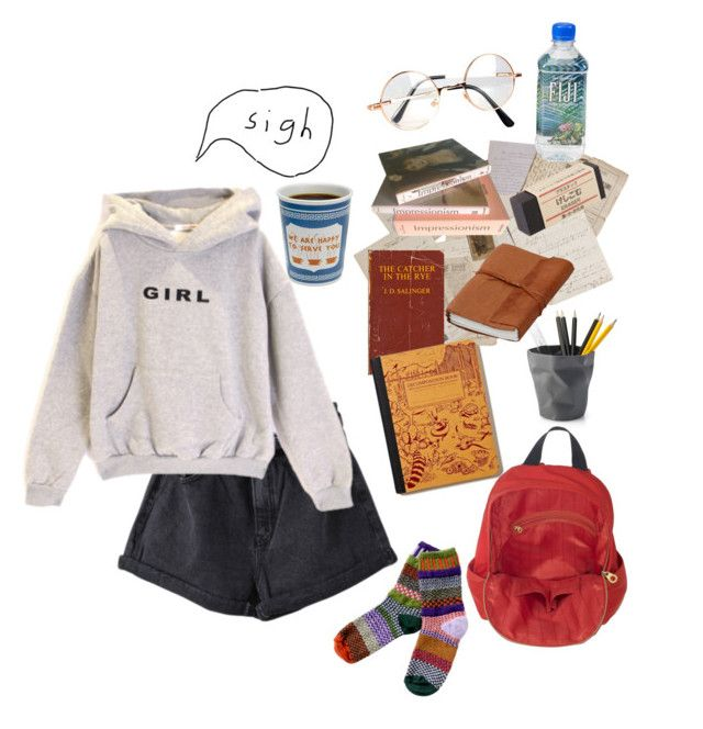 """""""study !!"""" by nightlikethis ❤ liked on Polyvore featuring Retrò, Taschen, Muji and Marc by Marc Jacobs"""