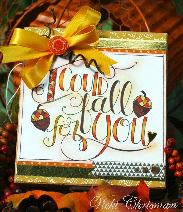 I Could Fall For You Wooden Box by Vicki Chrisman featuring stamps by Tammy Tutterow for Spellbinders.  | www.tammytutterow.com