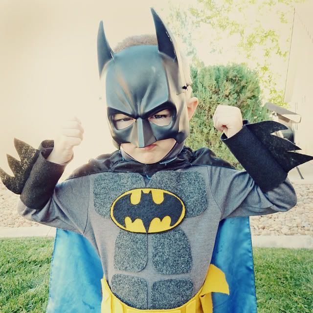 homemade batman costume out of felt