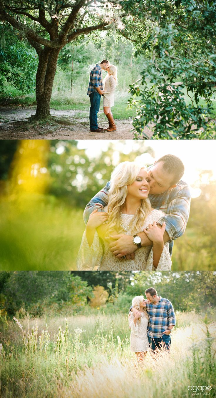 Romantic outdoor engagement session  © http://agapehousestudio.com/