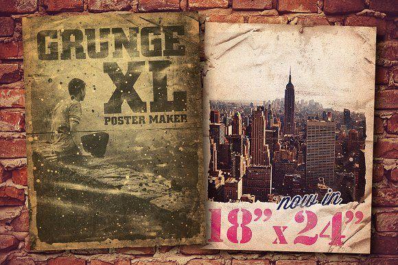 "Grunge Poster Maker XL - 18"" x 24"" by Design Spoon on @creativemarket"