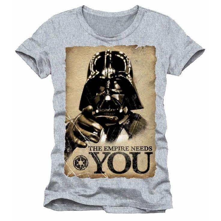Tee-Shirt Gris Dark Vador The Empire Needs You Star Wars