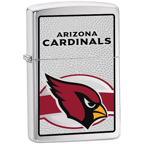Zippo NFL Arizona Cardinals Lighter (Silver, 5 1/2 x 3 1/2 cm) by Zippo. Save 48 Off!. $15.62. Easily spark a flame with this NFL® Zippo® cigarette lighter. It features a flip-open top, boasts a brushed chrome construction, and is boldly decorated with vibrant team graphics on the side.