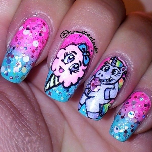 Fake Cotton Candy: 17 Best Images About Cartoon Nails On Pinterest