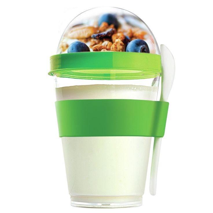 Travel Yogurt To Go Cup // reusable, BPA-free, for a healthy snack on the go