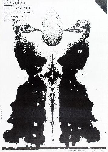 PIGASUS - Franciszek Starowieyski Pokojowki Jean Genet Maids Polish poster gallery Maids PL02051