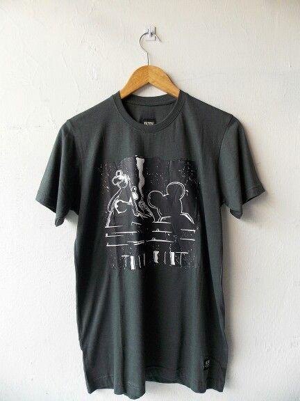 Olten Grey Weed tshirt - Rp110.000
