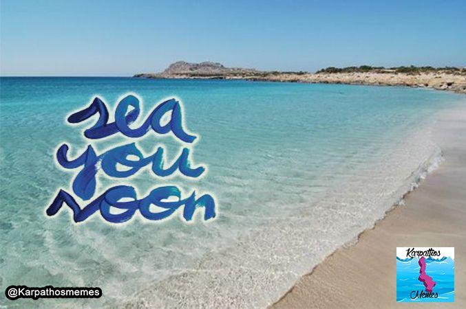See you soon Diakofti! @Karpathos - Diakoftis Beach. #KarpathosMemes #Diakoftis #GreekQuotes #summer #summerquotes #seeyousoon