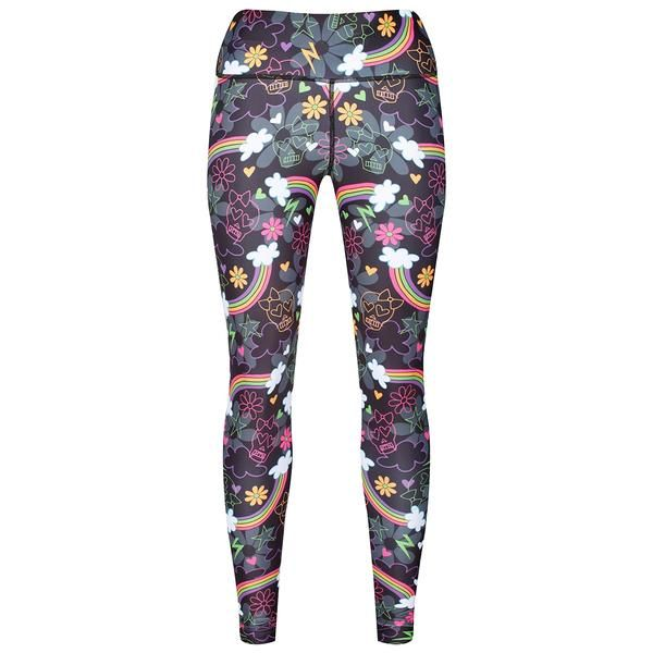 Tikiboo Skulls & Rainbows Leggings #Activewear #Gymwear #FitnessLeggings #Leggings #Tikiboo #RainbowPrint #Running #Yoga