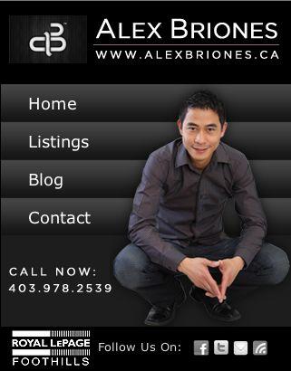 Custom Real Estate mobile website for realtor Alex Briones