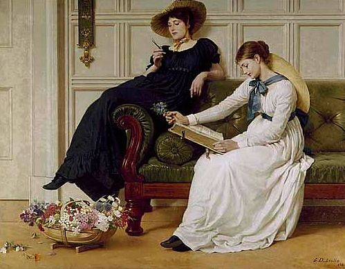 Leslie George Dunlop the language of flowers 1885  paintings for DH