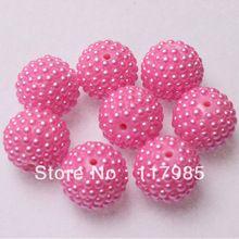 22 mm 100 Pcs imitação de pérolas pérolas de chicletes Pink cor Chunky acrílico Berry Beads para DIY Bubblegum colar(China (Mainland))