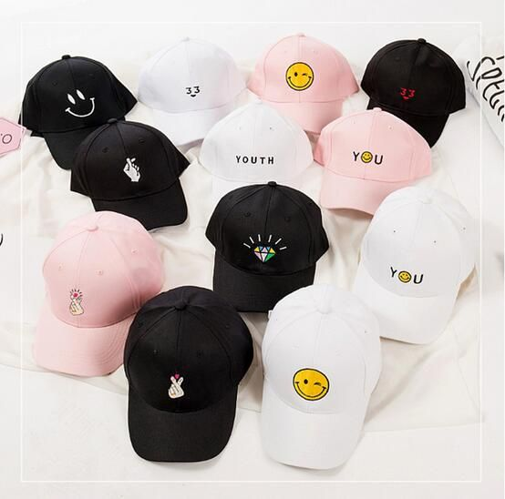 korean harajuku hats summer pink Dad Hat white polo caps 2017 girls golf youth ring caps baseball hats for women brand style