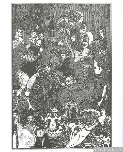 Aubrey_Beardsley_8 | В книге обширная галерея работ Бердслея представлена в окружении мыслей, идей, дружеских советов и чутких интерпретаций | ARTeveryday.org