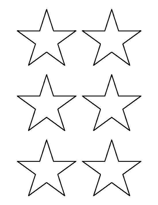 3 inch star pattern. Use the printable outline for crafts, creating stencils, scrapbooking, and more. Free PDF template to download and print at http://patternuniverse.com/download/3-inch-star-pattern/