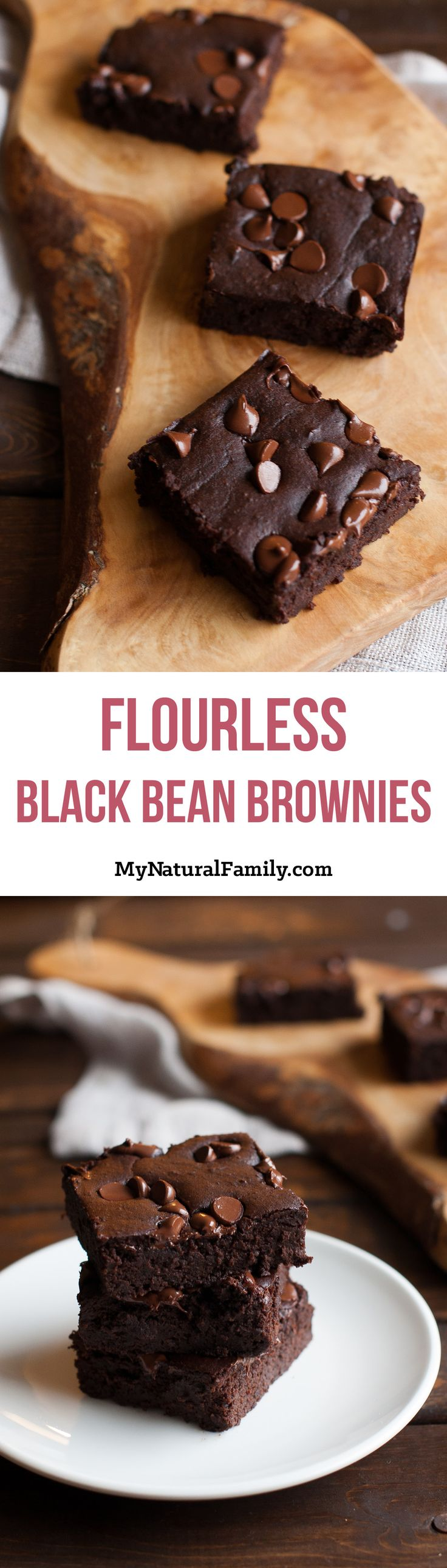 Flourless Black Bean Brownies Recipe - with only 9 simple ingredients, these pull together really fast and are grain-free and gluten-free brownies.