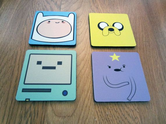 Daniel's choice: Adventure Time Coaster Rubber Set Finn Jake LSP by jerryamsterdam, $12.95