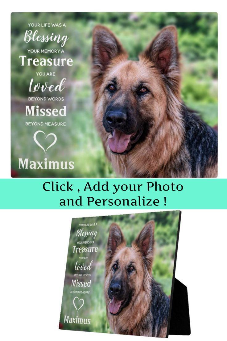 Pet dog memorial gift pet loss sympathy keepsake plaque