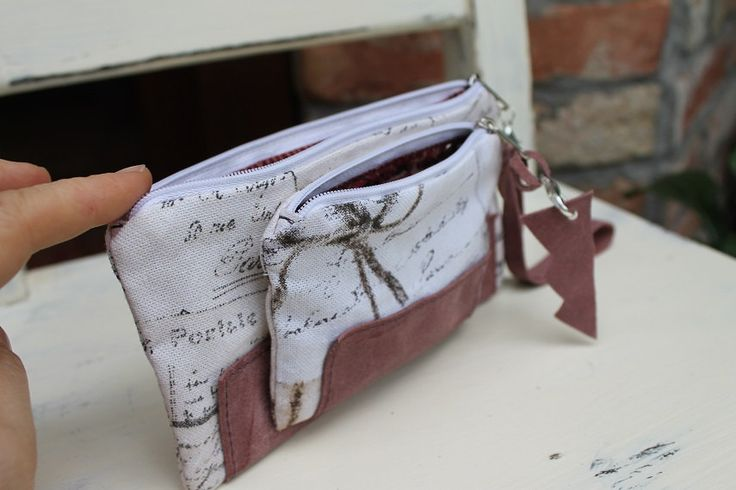 Wallet Purse canvas coin purse wallet leather money case women gift