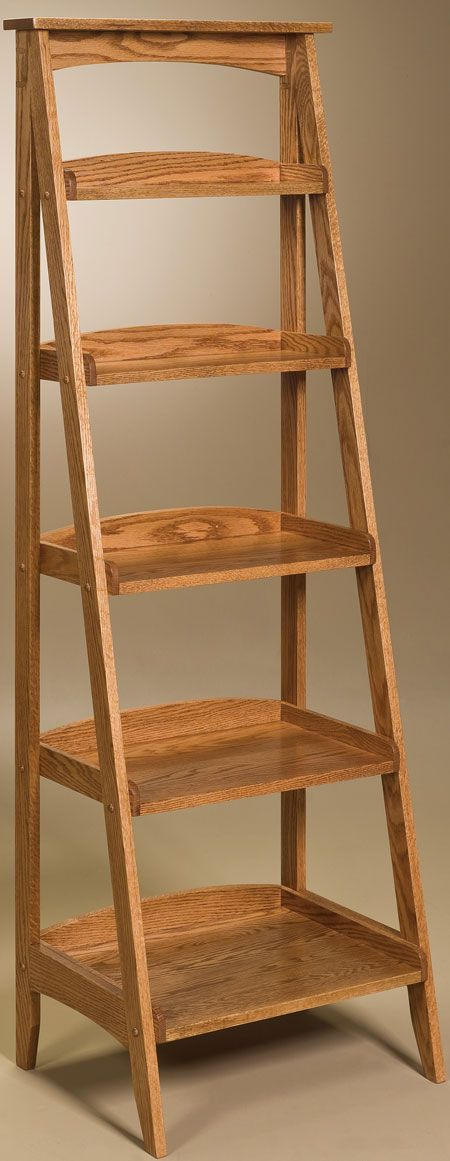 You'll save on every piece of furniture at Amish Outlet Store! We custom make every item, and you can get the Ladder Shelf in Oak with any wood and stain.