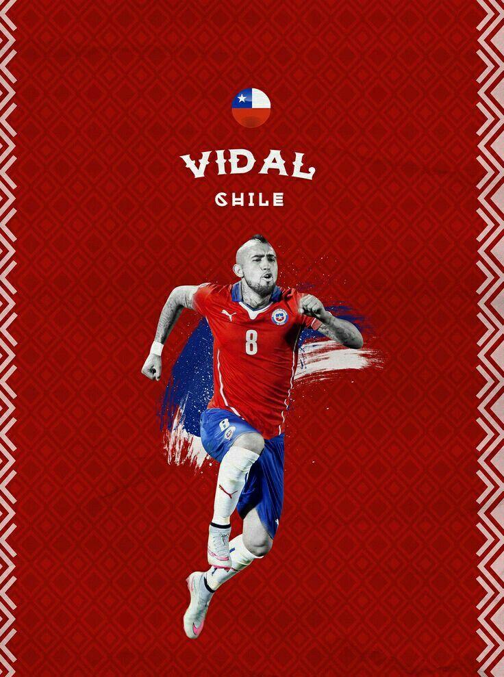 Arturo Vidal of Chile wallpaper.
