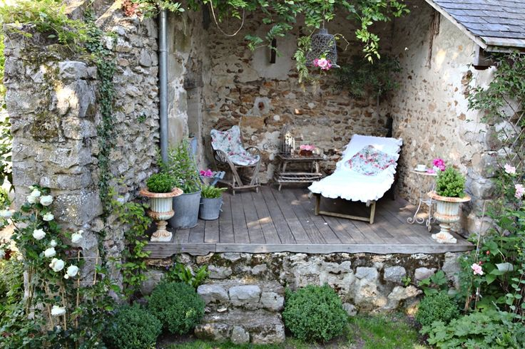 Wonderful little nook at the Grange de Charme.