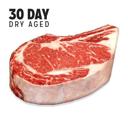 Pat Frieda Meat Purveyor Dry-Aged USDA Prime Black Angus Bone-In NY Strip Steak, Center Cut (Aged 30 Days)