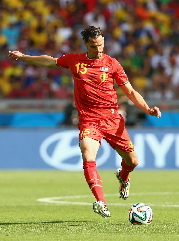 Belgium Rallies Past Algeria 2-1 To Pass First World Cup Test - BELO HORIZONTE, BRAZIL - JUNE 17: Daniel Van Buyten of Belgium controls the ball during the 2014 FIFA World Cup Brazil Group H match between Belgium and Algeria at Estadio Mineirao on June 17, 2014 in Belo Horizonte, Brazil. (Photo by Quinn Rooney/Getty Images)