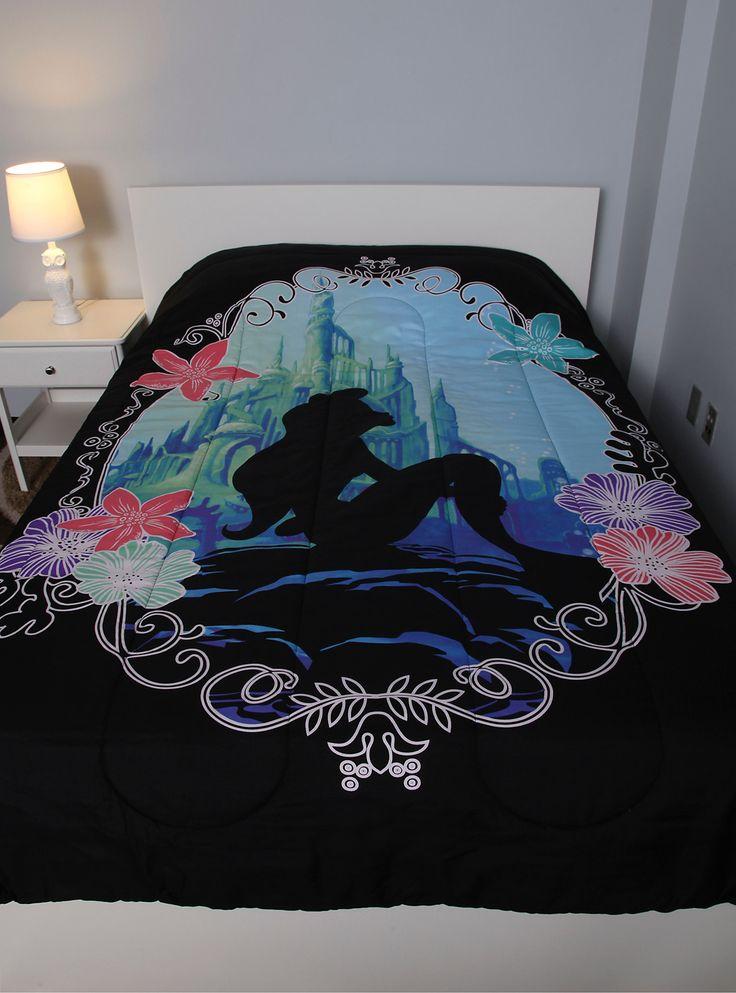 Disney The Little Mermaid Ariel Silhouette Full/Queen Comforter,