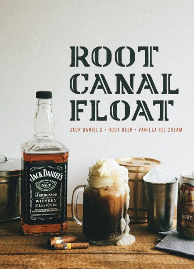 Adult root beer float