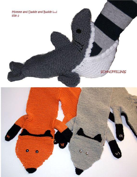 Hai Socken STRICKANLEITUNG DIY PDF Kinder von Schnuffelinis auf Etsy, $12.00