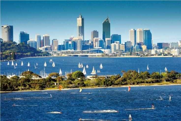 Beautiful harbor in Perth City Australia