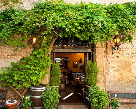 Italy Photography Cafe Photograph Garden by DeepLightPhotography, $30.00