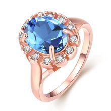 50% Off 2016 Encantos Mão Luminosa Anel de Noivado de Safira Azul Anéis de Strass Jóias Vintage Big Jóias Para Mulheres AKR014(China (Mainland))