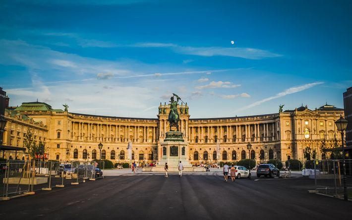 Hämta bilder Museum Of Art History, Wien, Österrike, kväll, torget, Av wiens sevärdheter