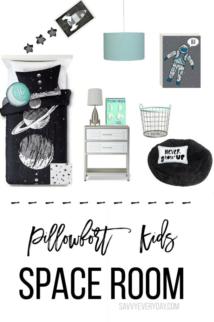 This outer space themed room using the Pillowfort line at Target is out of this world and costs less than $500!