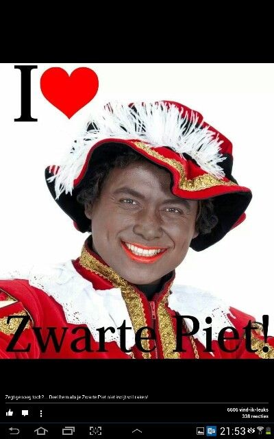 There is a lot of discussion about Zwarte Piet, but he belongs to the dutch St.Nicolas tradition.............lbxxx.