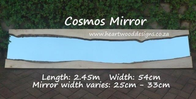 Our natural edged mirrors are ideal for a horizontal or vertical display.