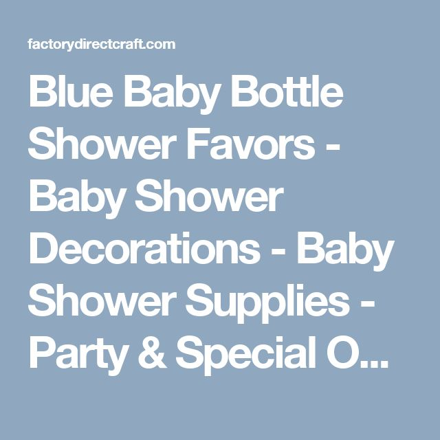 Blue Baby Bottle Shower Favors - Baby Shower Decorations - Baby Shower Supplies - Party & Special Occasions