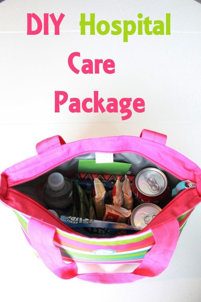 DIY Hospital Care Package ~ So easy and thoughtful... Would have been so nice all those long hours/days when dad was in ICU.