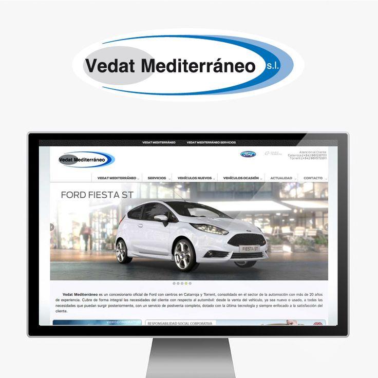 Diseño web para el concesionario Ford Vedat Mediterráneo de Valencia www.dissenart.com