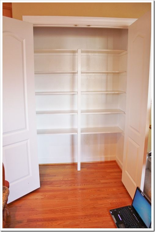 27 best images about media closet storage shelf on for Cost to build a pantry