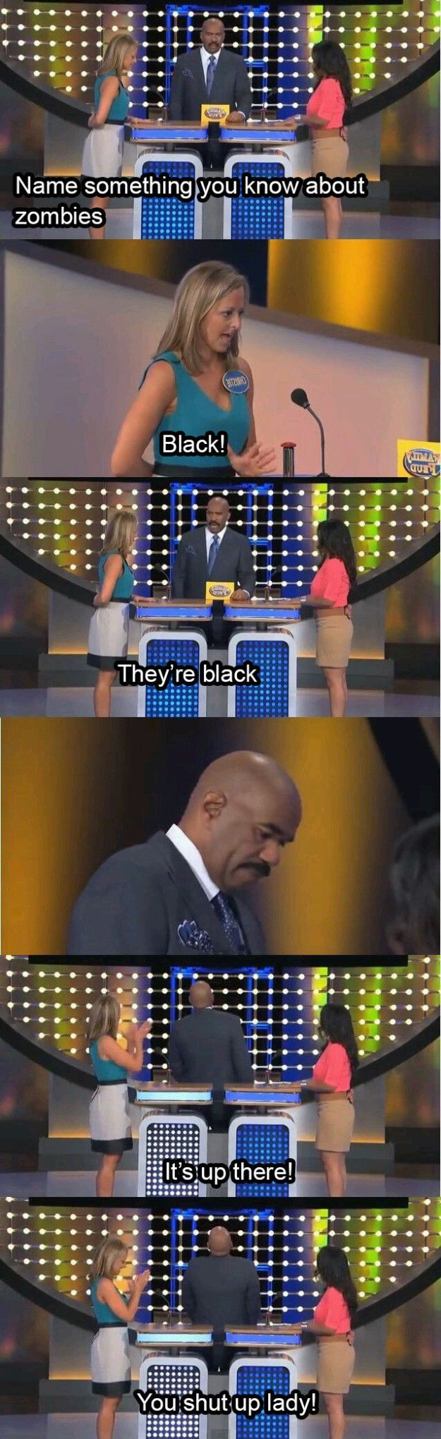 """The contestant who almost made Steve Harvey give up.   17 """"Family Feud"""" Answers That'll Make You Feel Smart"""