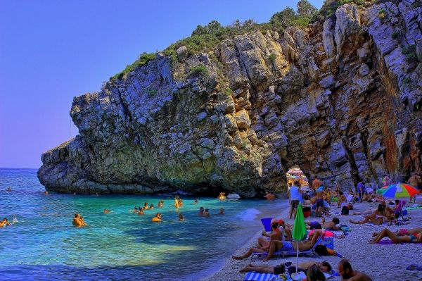 Enjoying a day at the beach- Mylopotamos beach, Pelion