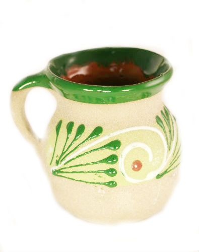 Sandy Decorated Clay Mug - Jarrito Ponche - Assorted Colors  $4.95