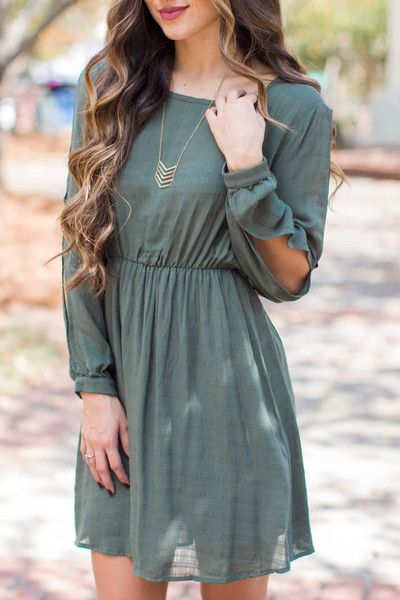 Changes To Be Made Olive Dress